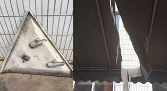 疑似波音飞机零件从天降 击穿上海工厂厂房