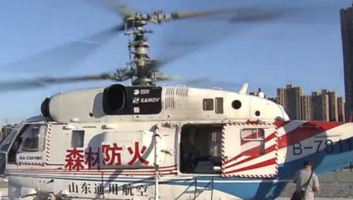 卡-32直升机巡护森林 太阳炙烤机舱如同蒸笼